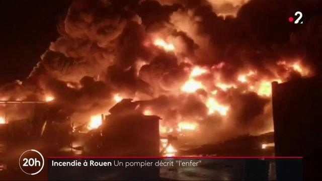 """Incendie à Rouen : un pompier décrit """"l'enfer"""""""