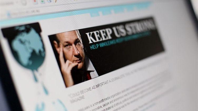 Le site WikiLeaks (AFP Thomas Coex)