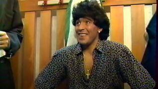 Diego Maradona lors du jubilé de Michel Platini à Nancy, en 1988. (CAPTURE D'ÉCRAN)