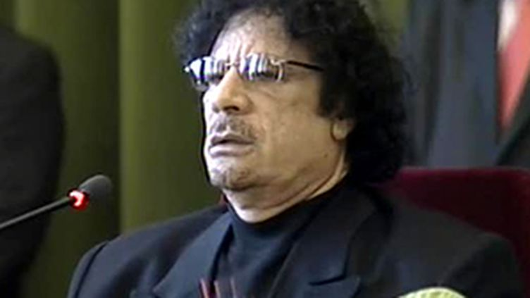 Le colonel Mouammar Kadhafi (France 3)