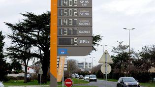 La hausse du prix du diesel à la pompe, à Toulouse. (MAXPPP)