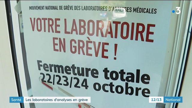 Santé : les laboratoires d'analyses en grève