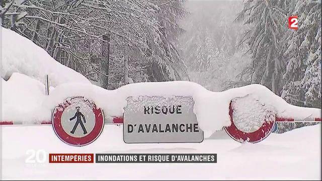 Intempéries : inondations et risque d'avalanches