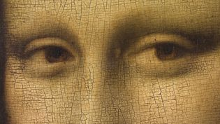 Détail du haut du visage de La Joconde au musée du Louvre, 2015  (MICHEL URTADO / MUSÉE DU LOUVRE / RMN-GRAND PALAIS)