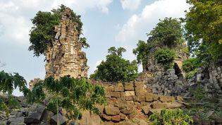 Vestiges d'une temple d'Angkor-période de Banteay Top  (Damian Evans / Cambodian Archaeological Lidar Initiative / AFP)