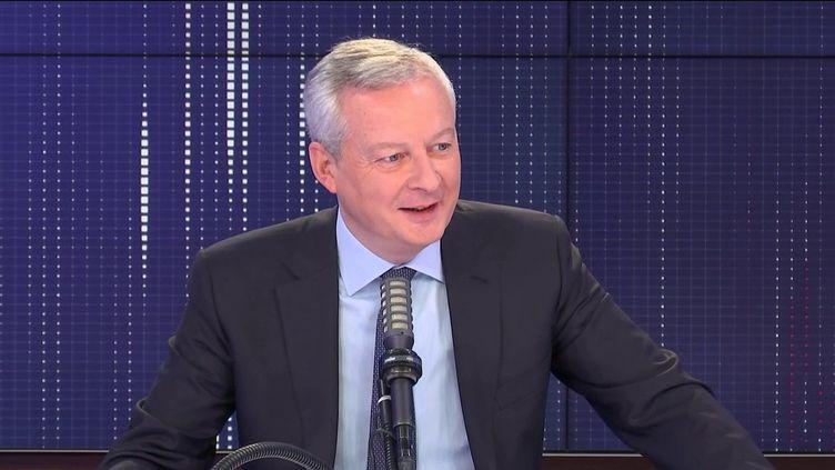 Bruno Le Maire, ministre de l'Economie, le 10 mai 2021 sur franceinfo. (FRANCEINFO / RADIOFRANCE)