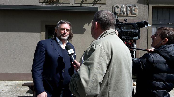 Didier Thiry, mardi 3 mai 2016 devant les caméras de France 3 Champagne-Ardennes. (VINCENT MATALON / FRANCETV INFO)