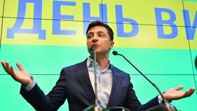 VolodymyrZelensky, vainqueur de l'élection présidentielle en Ukraine. (GENYA SAVILOV / AFP)