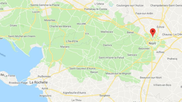 La commune de Niort, dans les Deux-Sèvres (CAPTURE D'ECRAN GOOGLE MAPS)