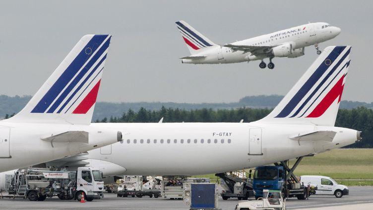 Le nourrisson a été retrouvé dans un appareil d'Air France, le 15 juillet 2012. (JOEL SAGET / AFP)