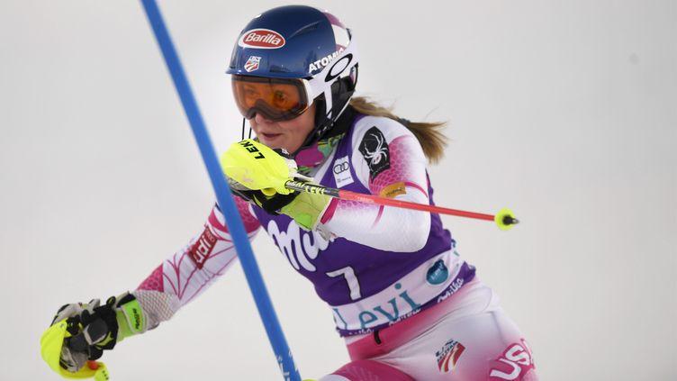 L'Américaine Mikaela Shiffrin, la reine du slalom (MARTTI KAINULAINEN / LEHTIKUVA)