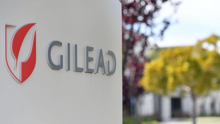 Le siège de Gilead Sciences à Foster City, en Californie (Etats-Unis), le 30 avril 2020. (JOSH EDELSON / AFP)