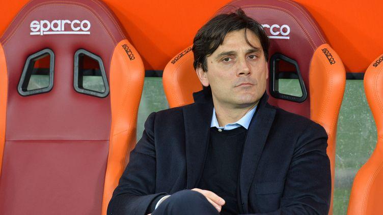 L'entraîneur italien Vincenzo Montella (SILVIA LORE / NURPHOTO)