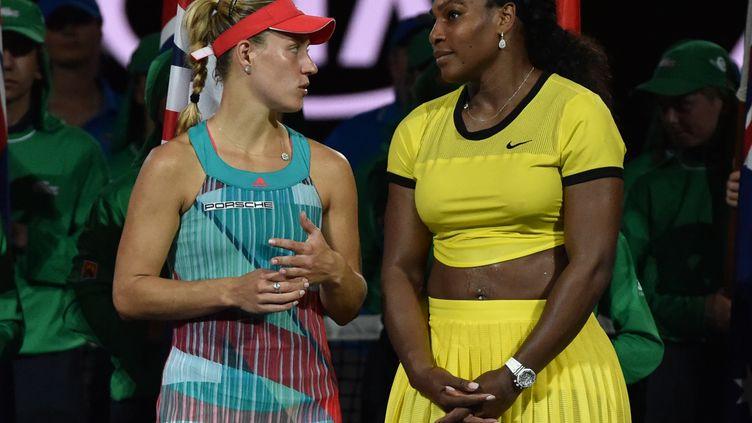 Serena Williams et Angélique Kerber. (SAEED KHAN / AFP)