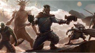 "Peter Quill/Star Lord, Gamora, Drax le destructeur, Rocket et Groot sont ""Les Gardiens de la galaxie"" de Jammes Gunn (II)  (The Walt Disney Company France )"