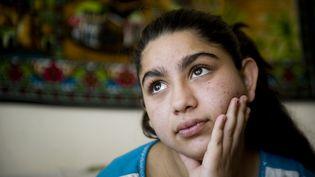 Leonarda Dibrani, photographiée le 23 mai 2014à Mitrovica, au Kosovo. (ARMEND NIMANI / AFP)