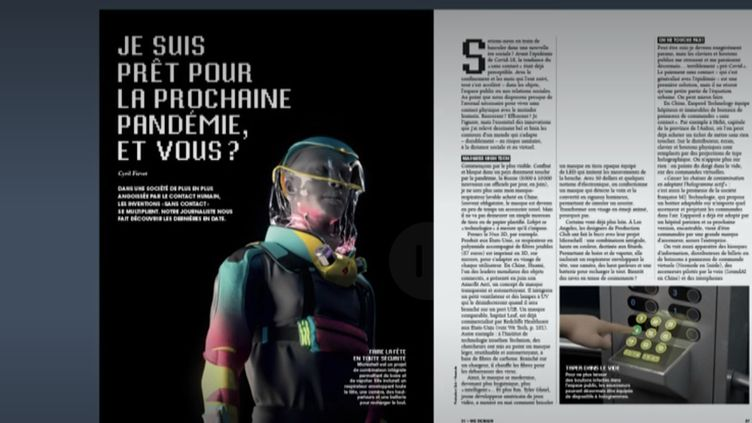 """Un article de We Demain sur les """"survivalistes"""" face au coronavirus. (FRANCEINFO)"""