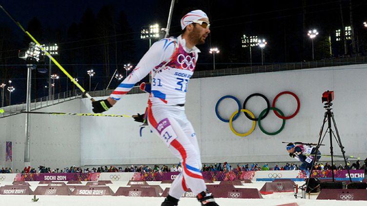 Martin Fourcade double champion olympique (KIRILL KUDRYAVTSEV / AFP)