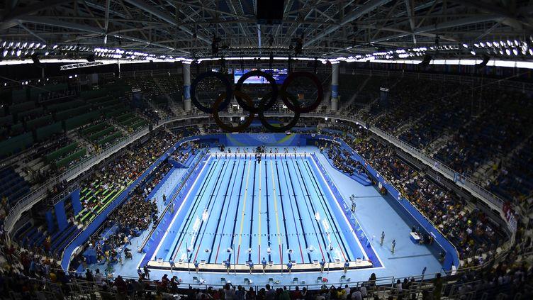 Le Stade aquatique de Rio théâtre du relais 4x100 m nage libre (GABRIEL BOUYS / AFP)