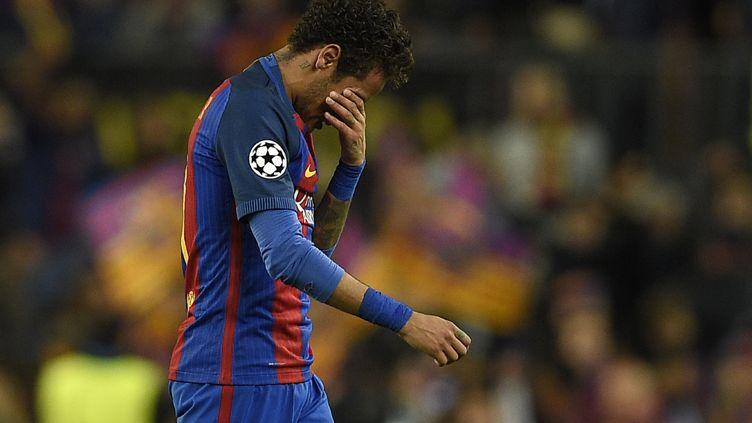 Le joueur du Barca, Neymar (LLUIS GENE / AFP)