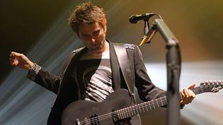 Matthew Bellamy, de Muse, à l'Olympia le 2 octobre 2012  (Thomas Samson / AFP)