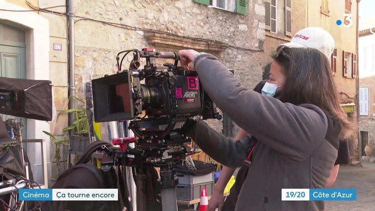 """Le tournage de la série """"Crimes parfaits"""", diffusée sur France 3, bat son plein à Biot. (France 3 Côte d'Azur)"""