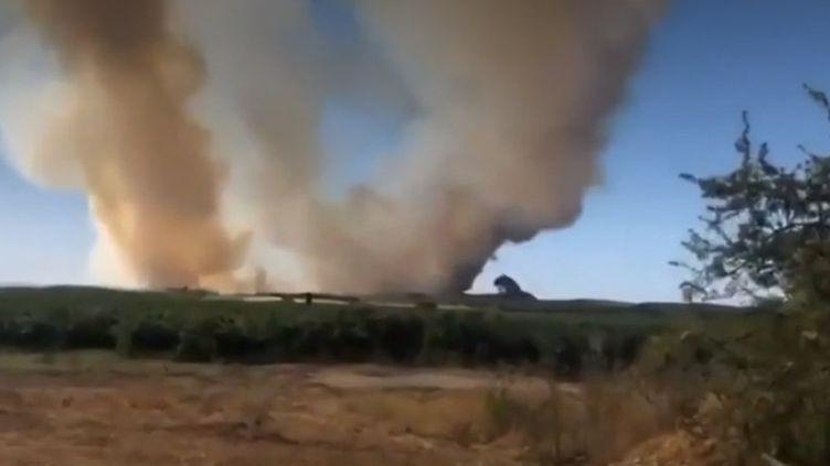 Incendies : un bombardier en intervention s'écrase, le pilote est décédé (France 2)