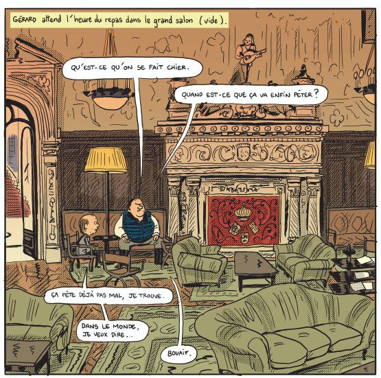 """Gérard, dans les pattes de Depardieu"", page 83  (Mathieu Sapin / Dargaud)"