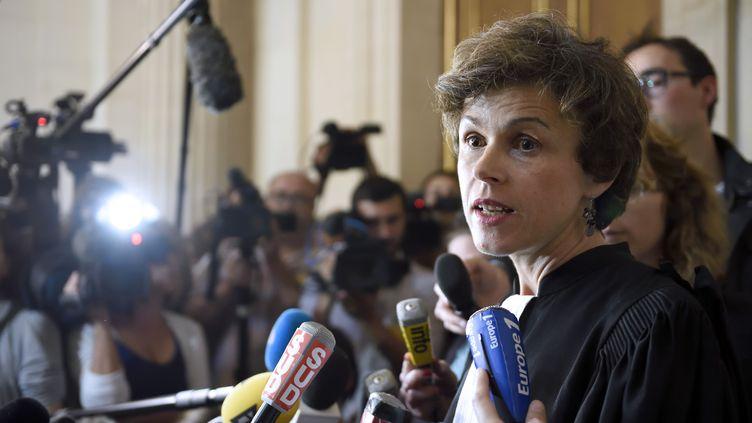 Me Madeleine Munier Apaire, l'avocatede François Lambert, le 24 juin 2014 à Paris. (ERIC FEFERBERG / AFP)