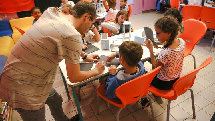 Un centre d'accueil de loisirs à Bourg-les-Valence (Drôme), en août 2019. (NICOLAS GUYONNET / HANS LUCAS)