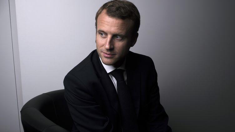 Le ministre de l'Economie Emmanuel Macron à Bercy, le 12 septembre 2014. (FRED DUFOUR / AFP)