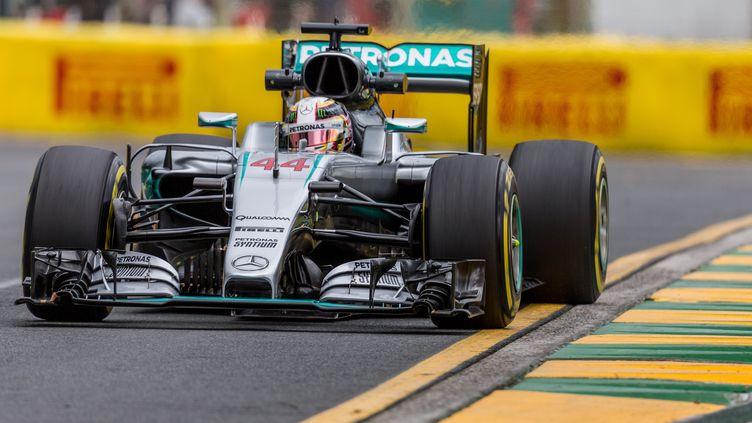 Le Britannique Lewis Hamilton à Melbourne pour l'ouverture de la saison 2016 (ASANKA BRENDON RATNAYAKE / ANADOLU AGENCY)