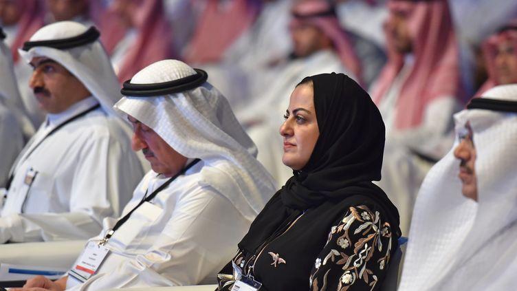 Une femme saoudienne, le 18 septembre 2019 à Riyad (Arabie Saoudite). (FAYEZ NURELDINE / AFP)
