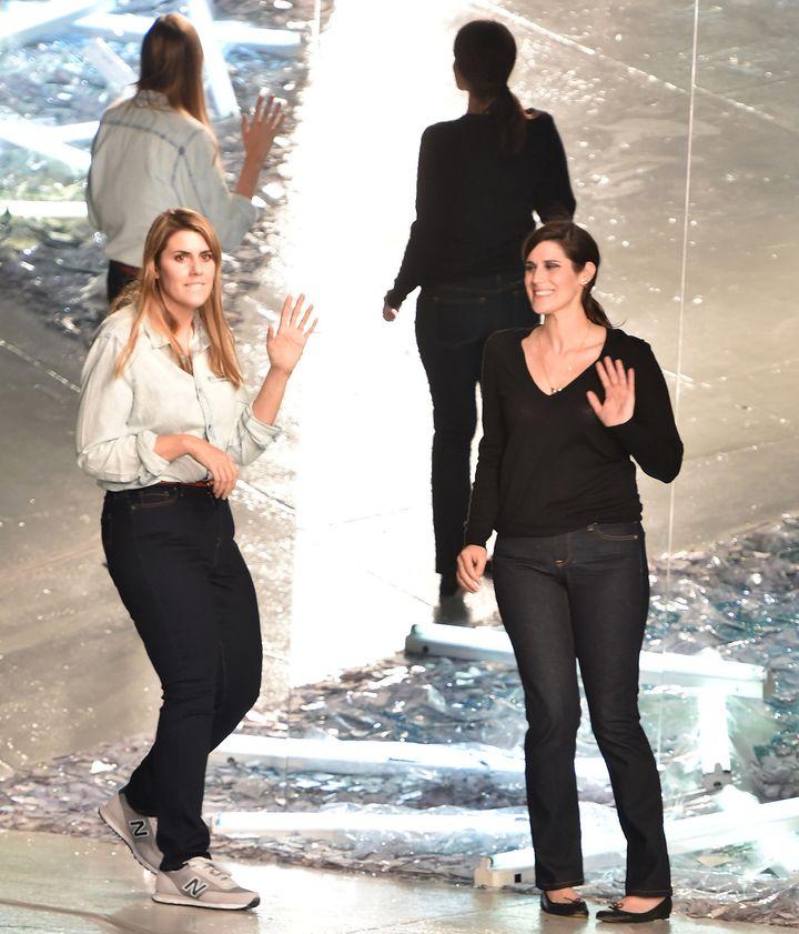 Kate et Laura Mulleavy, les créatrices de Rodarte, en 2014  (Slaven Vlasic / GETTY IMAGES NORTH AMERICA / AFP)