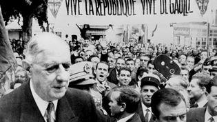 Le général de Gaulle, président de la République à Apt, le 25 septembre 1963. (AFP)