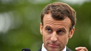 Emmanuel Macron à Sydney, en Australie, le 2 mai. (SAEED KHAN / AFP)