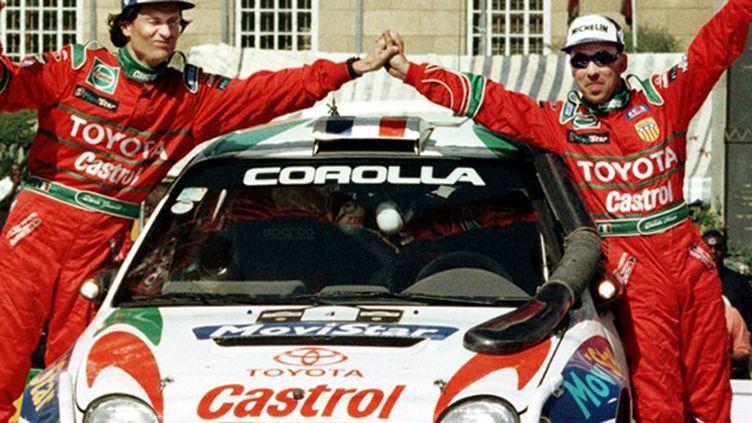 Au volant de la Toyota, Didier Auriol et Denis Giraudet remportent le rallye du Safari en 1999