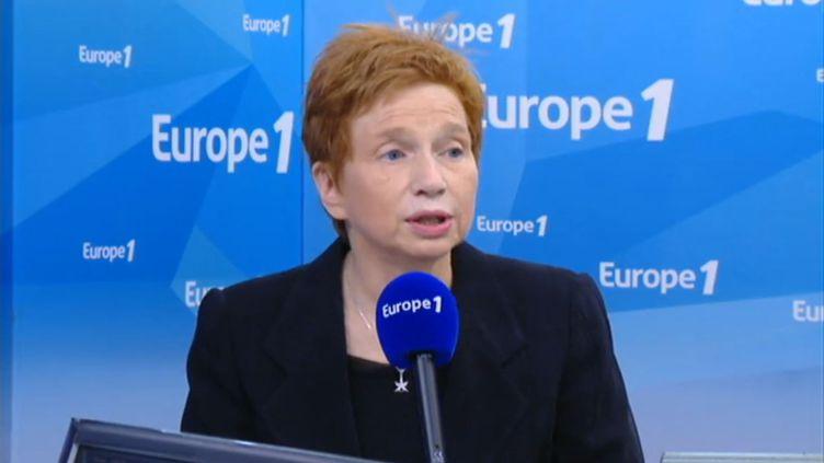 Laurence Parisot, jeudi 4 mai, sur le plateau d'Europe 1. (EUROPE 1)