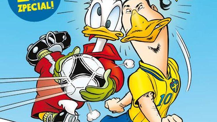L'attaquant vedette Zlatan Ibrahimovic a fait la couverture d'un magazine Disney suédois, juste avant l'Euro. (DR)