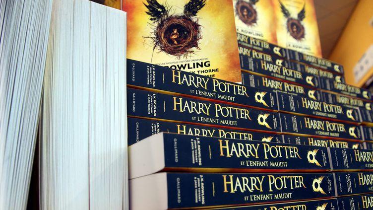 """Des exemplaires du 8e opus de J.K. Rowling, """"Harry Potter et l'enfant maudit"""", le 14 octobre 2016. (Photo d'illustration) (MAXPPP)"""