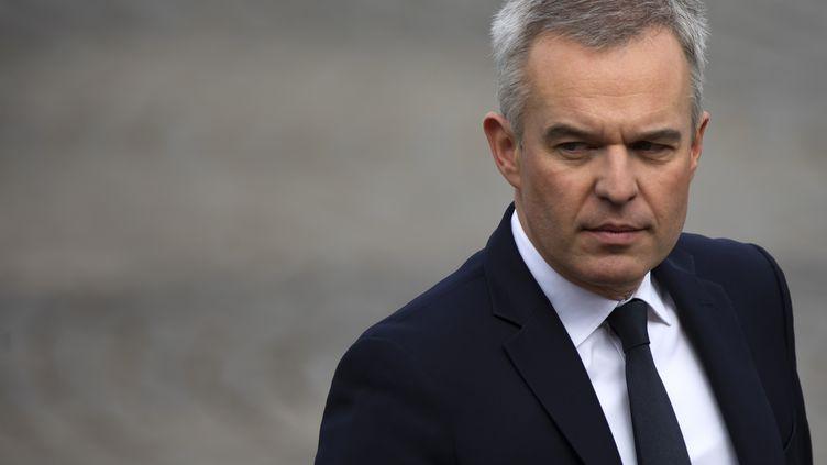 François de Rugy, alors ministre de la Transition écologique, lors du défilé du 14-Juillet, à Paris, le 14 juillet 2019. (MAXPPP)