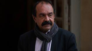 Le patron de la CGT, Philippe Martinez, le 19 décembre 2019. (MARTIN BUREAU / AFP)