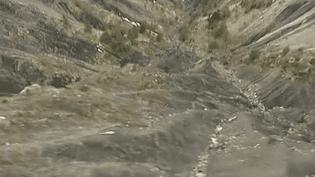 Capture d'écran du site du crash, sur la commune de Méolans-Revel (Alpes-de-Haute-Provence). (FRANCETV INFO)