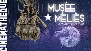 """Affiche de l'exposition """"Méliès - La Magie du cinéma"""" à la Cinémathèque française (2021). (LA CINEMATHEQUE FRANCAISE)"""