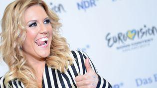 """La chanteuse Natalie Horler, du groupe Cascada : leur chanson """"Glorious"""" a été choisie pour représenter l'Allemagne à l'Eurovision 2013  (Julian Stratenschulte /AFP)"""