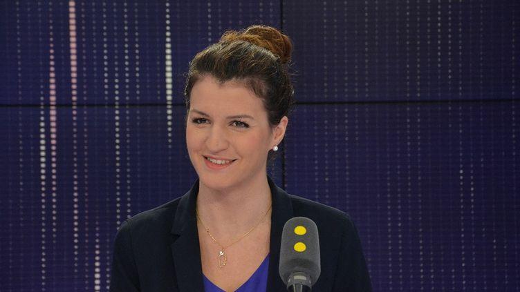 Marlène Schiappa en novembre 2017. (JEAN-CHRISTOPHE BOURDILLAT / FRANCE-INFO)