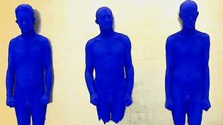 Portrait relief de Claude Pascal, Arman et Martial Raysse, Yves Klein, 1962, au Mamac de Nice  (France 3 / Culturebox)