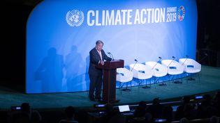 Le secrétaire général de l'ONU, Antonio Guterres, le 23 septembre 2019 à New York. (JOHANNES EISELE / AFP)