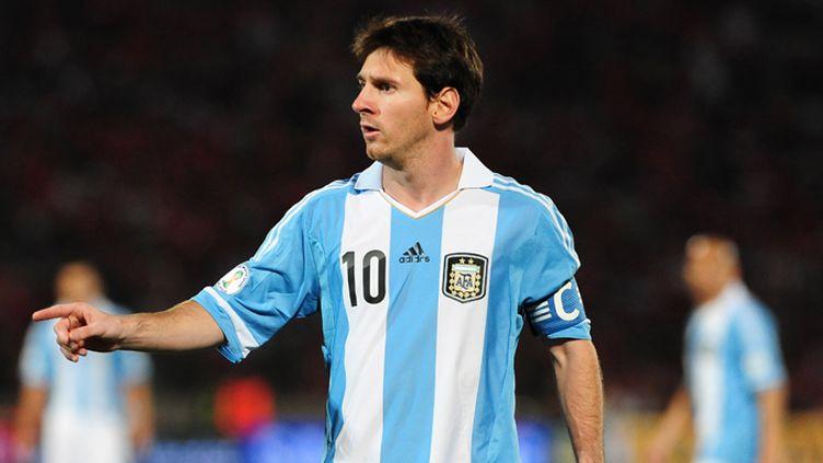 Lionel Messi avec le maillot de l'Argentine