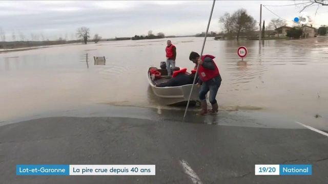 Inondations dans le Lot-et-Garonne : la Garonne amorce une lente décrue